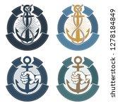 anchor emblem symbols of...   Shutterstock . vector #1278184849