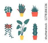 set of decorative houseplants... | Shutterstock .eps vector #1278186136