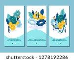 isometric template app teamwork ... | Shutterstock .eps vector #1278192286
