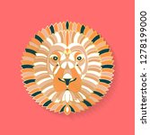 lion label design. abstract... | Shutterstock .eps vector #1278199000