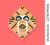 monkey label design. abstract... | Shutterstock .eps vector #1278199006