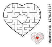 abstract heart shaped labyrinth.... | Shutterstock .eps vector #1278199339