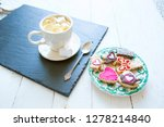 cup of cocoa with marshmallows... | Shutterstock . vector #1278214840