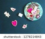 ookies on a black stone... | Shutterstock . vector #1278214843