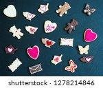 ookies on a black stone... | Shutterstock . vector #1278214846