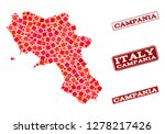 geographic collage of dot... | Shutterstock .eps vector #1278217426