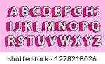 cute black polka dots 3d... | Shutterstock .eps vector #1278218026