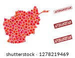geographic collage of dot... | Shutterstock .eps vector #1278219469