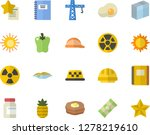 color flat icon set crane flat... | Shutterstock .eps vector #1278219610