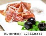 schwarzwald ham with black...   Shutterstock . vector #1278226663