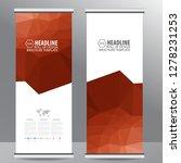 roll up business brochure flyer ... | Shutterstock .eps vector #1278231253