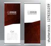 roll up business brochure flyer ... | Shutterstock .eps vector #1278231259
