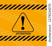 danger warning attention or... | Shutterstock .eps vector #1278234070