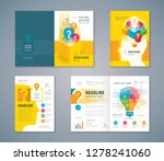 cover book design set  colorful ... | Shutterstock .eps vector #1278241060