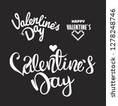 happy valentines day lettering... | Shutterstock .eps vector #1278248746