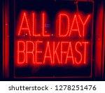 neon all day breakfast sign... | Shutterstock . vector #1278251476