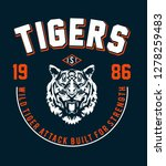 typography slogan with tiger... | Shutterstock .eps vector #1278259483