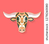 bull label design. abstract... | Shutterstock .eps vector #1278260080