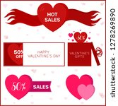 banners with hearts | Shutterstock .eps vector #1278269890
