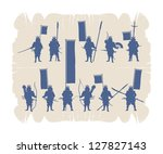 silhouettes of the japanese... | Shutterstock .eps vector #127827143