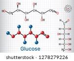 glucose  dextrose  d glucose ... | Shutterstock .eps vector #1278279226