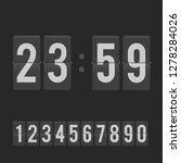 countdown clock counter timer.... | Shutterstock .eps vector #1278284026