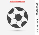 soccer ball vector icon eps 10   Shutterstock .eps vector #1278286069