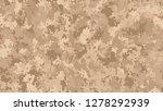 brown pixel digital camouflage... | Shutterstock .eps vector #1278292939