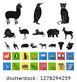 different animals black flat... | Shutterstock .eps vector #1278294259