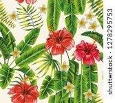 exotic botanical pattern... | Shutterstock .eps vector #1278295753