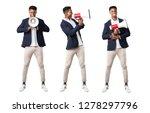 set of handsome african... | Shutterstock . vector #1278297796
