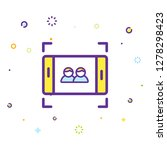 phone icon illustration | Shutterstock .eps vector #1278298423