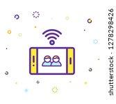 phone icon illustration | Shutterstock .eps vector #1278298426