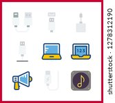9 portable icon. vector... | Shutterstock .eps vector #1278312190