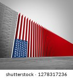 united states border wall and... | Shutterstock . vector #1278317236