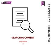 search document icon isolated...