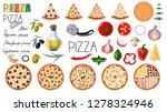 big set pizza. traditional... | Shutterstock .eps vector #1278324946