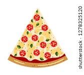 margarita slice pizza top view... | Shutterstock .eps vector #1278325120