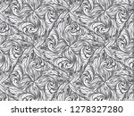 white abstract pattern. floral... | Shutterstock . vector #1278327280