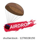 air drop pubg  from the game... | Shutterstock .eps vector #1278328150