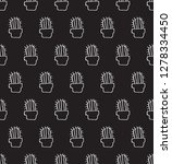seamless pattern with cactus...   Shutterstock .eps vector #1278334450