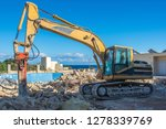 an old excavator with rock...   Shutterstock . vector #1278339769
