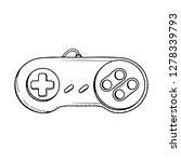 gaming controller illustration. ...   Shutterstock .eps vector #1278339793