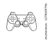 gaming controller illustration. ...   Shutterstock .eps vector #1278339796