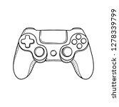 gaming controller illustration. ...   Shutterstock .eps vector #1278339799