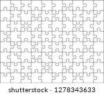 puzzle background 8x10. vector... | Shutterstock .eps vector #1278343633