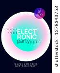 music flyer. fluid holographic... | Shutterstock .eps vector #1278343753