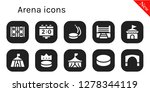 arena icon set. 10 filled...   Shutterstock .eps vector #1278344119