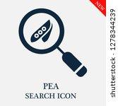 pea search icon. editable pea... | Shutterstock .eps vector #1278344239