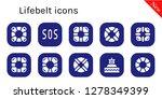 lifebelt icon set. 10 filled... | Shutterstock .eps vector #1278349399